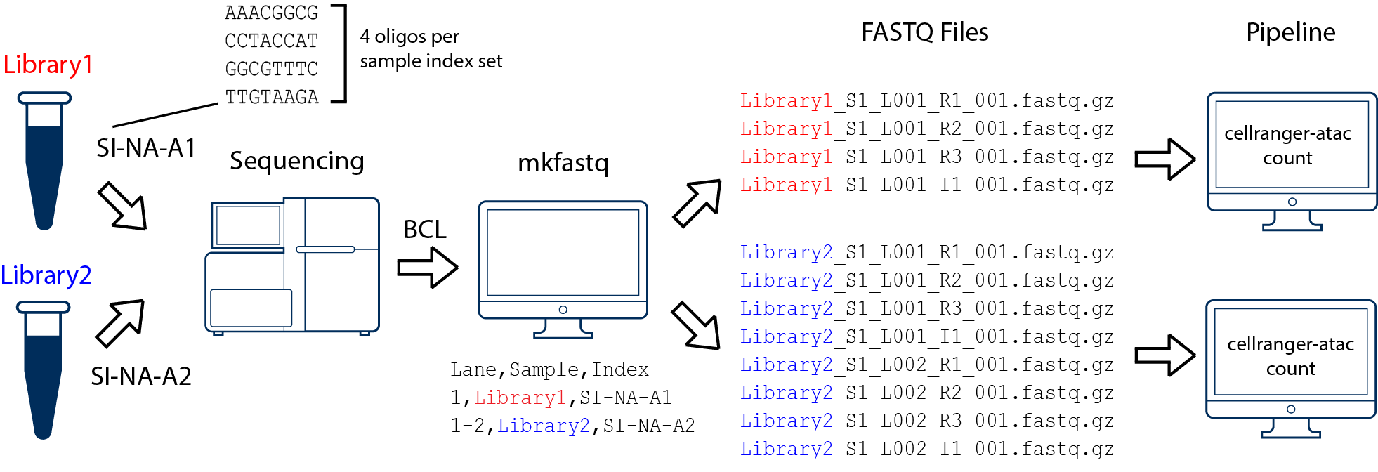 two libraries, one flowcell