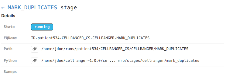 cellranger metadata pane - details